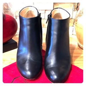Authentic Christian Louboutin black booties